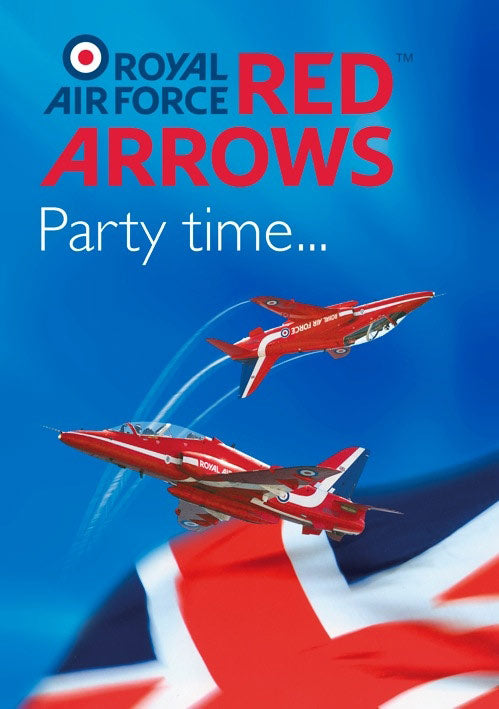 Red Arrows Invitations 6 Pack
