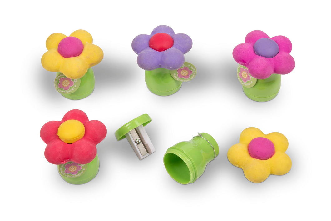 Flower Sharpener & Eraser