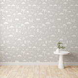 Folly Toile Wallpaper in Harbor