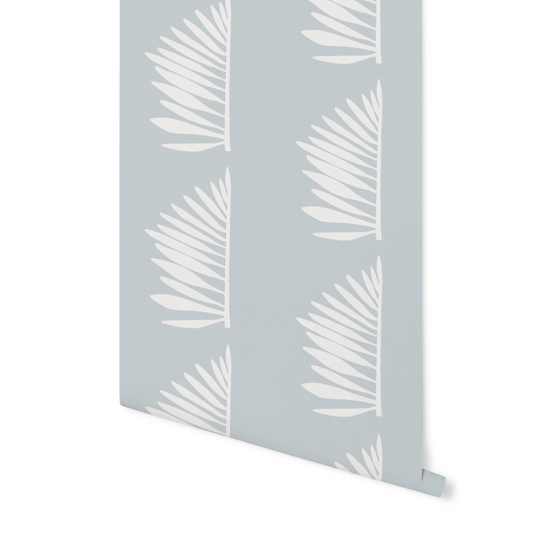Palmetto Wallpaper in Haint Blue