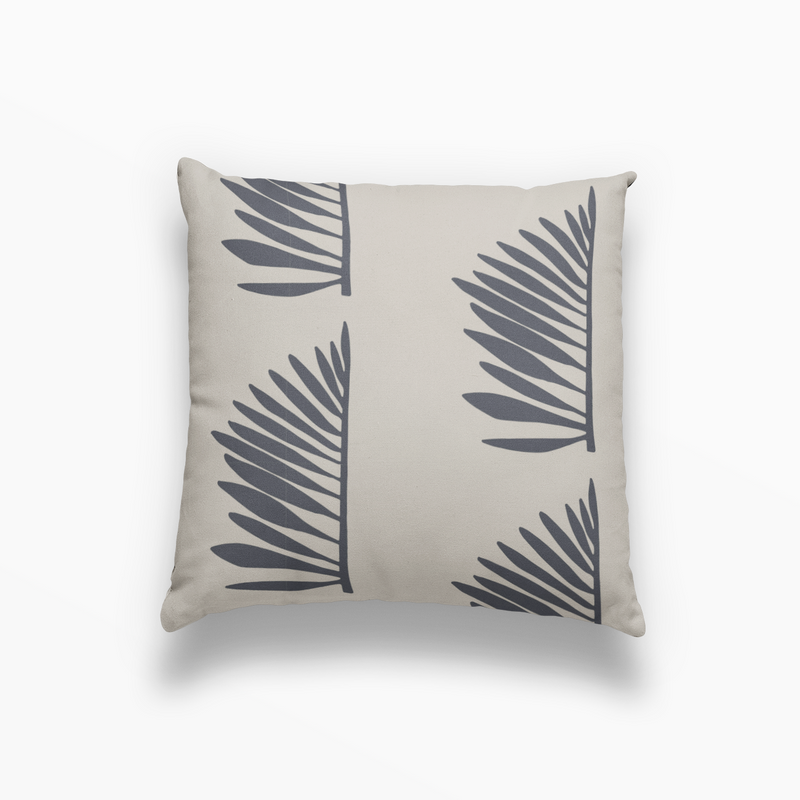 Palmetto Pillow in Midnight