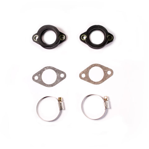 Carburetor Flange Set with Gaskets and Clamps