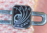 1934 World's Fair Silver Tone Tie Clasp - Old Orchard Antiques And Collectibles - 2