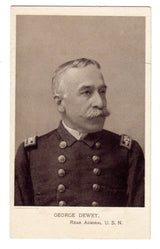 Rear Admiral George Dewey Trade Card And Stereo Card - Old Orchard Antiques And Collectibles