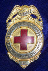 Vintage Red Cross First Aid Corps Pin Badge Bethesda Chevy Chase - Old Orchard Antiques And Collectibles