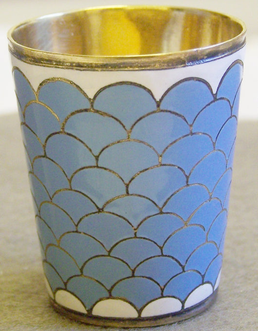 Vintage Russian Enamel Vodka Cup Beaker - Old Orchard Antiques And Collectibles