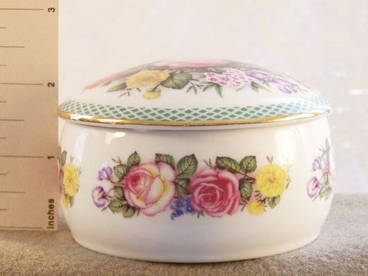 Danbury Mint Floral Enchantment Music Box In The Good Old Summertime - Old Orchard Antiques And Collectibles