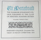 1916 Mortarboard Yearbook From Barnard College Columbia University - Old Orchard Antiques And Collectibles - 6