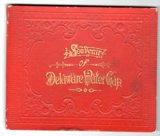 Souvenir Of Delaware Water Gap Fold Out Scenic Views Hard Cover 1890's - Old Orchard Antiques And Collectibles
