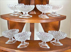 Porcelain China And Glassware - 8 Westmoreland English Hobnail Open Salt Dips