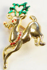 Vintage Rudolph the Red Nose Reindeer Christmas Pin