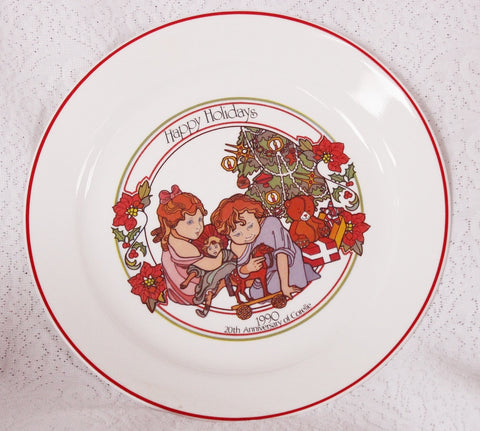Corelle 1990 Christmas Plate - Old Orchard Antiques And Collectibles