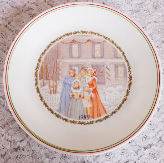 Corelle Christmas Plate 1989 Limited Edition - Old Orchard Antiques And Collectibles