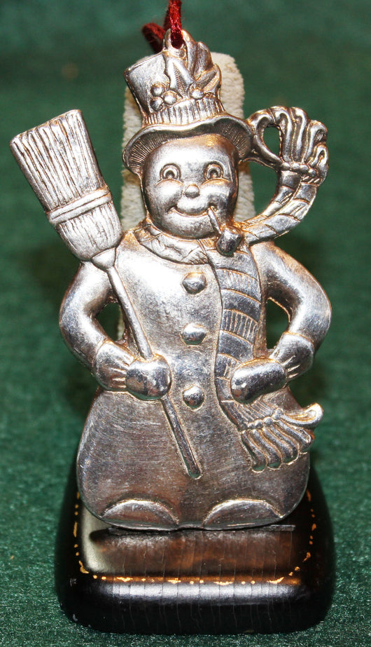 Gorham Electroplate Snowman Ornament 1984 - Old Orchard Antiques And Collectibles