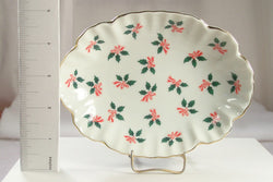 Lefton Oval Christmas Dish - Old Orchard Antiques And Collectibles