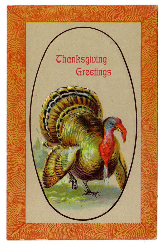 Vintage Thanksgiving Postcard Saxony - Old Orchard Antiques And Collectibles