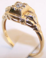 14k Victorian Mine Cut Diamond Ring - Old Orchard Antiques And Collectibles - 2