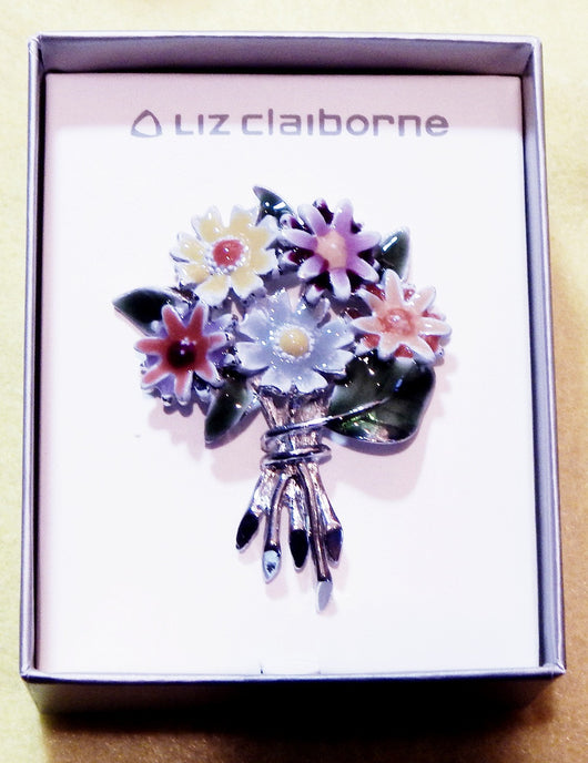 Liz Claiborne Floral Pin - Old Orchard Antiques And Collectibles