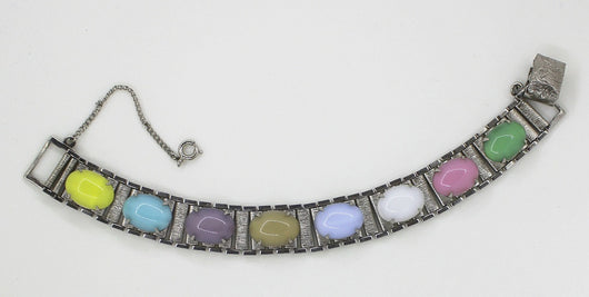 Sarah Coventry Multi-Colored Party Pastels Bracelet - Old Orchard Antiques And Collectibles - 3