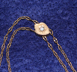 Victorian Opal Slide Watch Chain AAG Co - Old Orchard Antiques And Collectibles