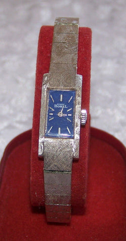 Vintage Ernest Borel Ladies Bracelet Wrist Watch - Old Orchard Antiques And Collectibles
