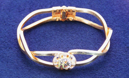 Vintage Rebekah Lodge Clamper Bangle Bracelet - Old Orchard Antiques And Collectibles