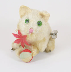 Vintage Wind Up Kitten Japan 1940's-50's - Old Orchard Antiques And Collectibles