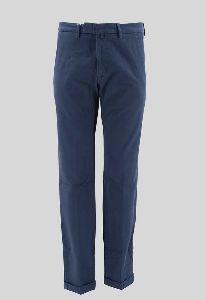 Trousers in Woven Cotton / Blue