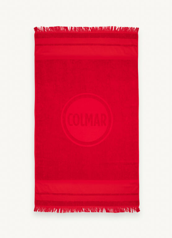 Beach Towel With Fringes / Red