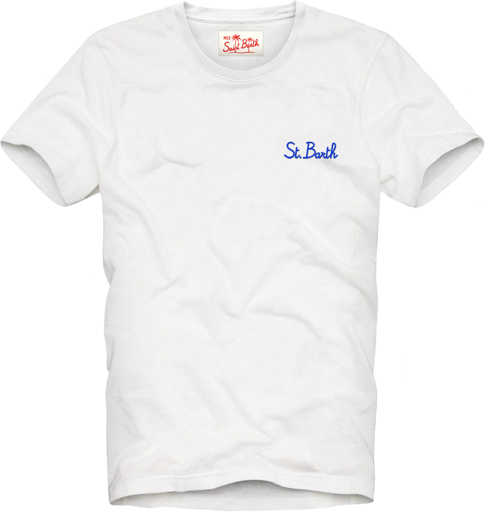 T-shirt with embroidery / White
