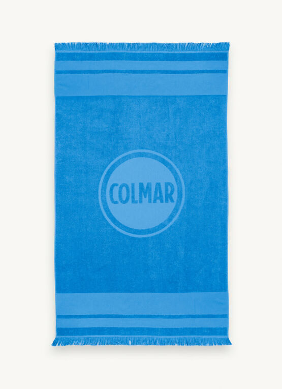 Beach Towel With Fringes / Light Blue
