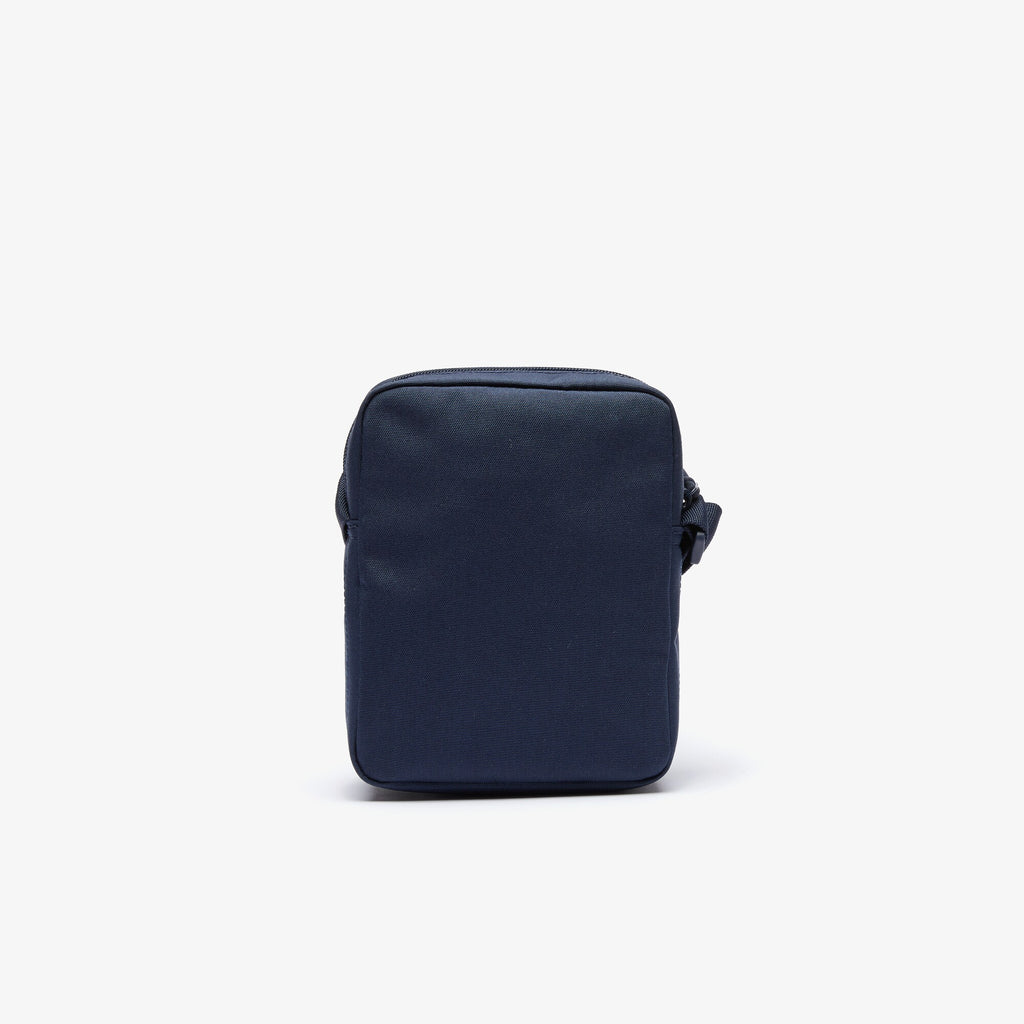 Vertical bag with Neocroc zip in solid color canvas / Blue