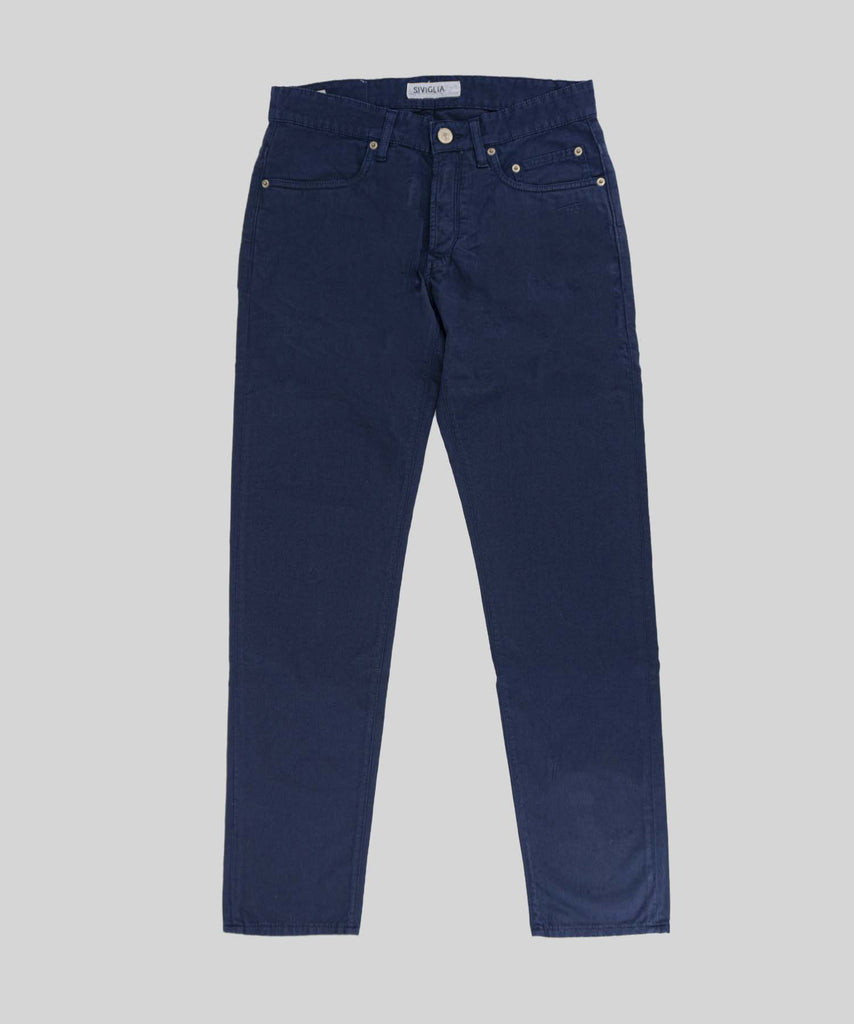 Classic cotton five pocket / Blue