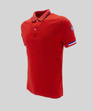 Piquè Polo Shirt with Contrasting Collar / Red