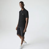 Lacoste L.12.12 polo shirt with a classic cut in petit piqué / Black