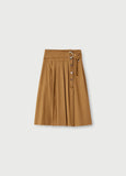 Midi skirt with belt / Beige