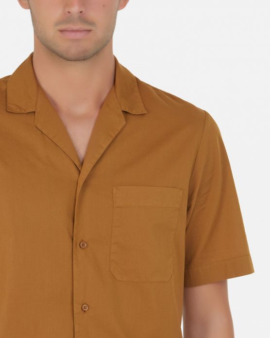 Bowling shirt with pocket / Beige