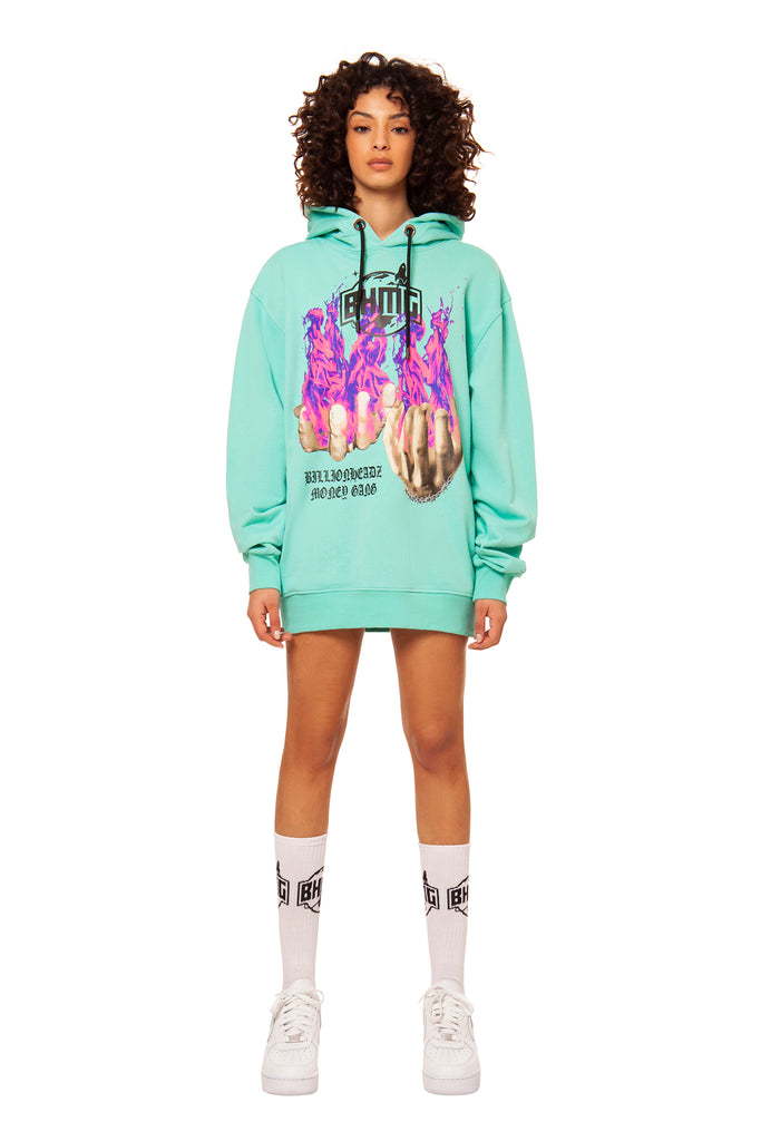 Unisex sweatshirt with print / Green