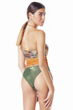 Tribal Flowerpow one piece Swimsuit / Multicolor