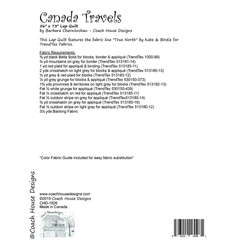 Canada Travels Digital Pattern