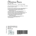 Christmas Bears Digital Pattern