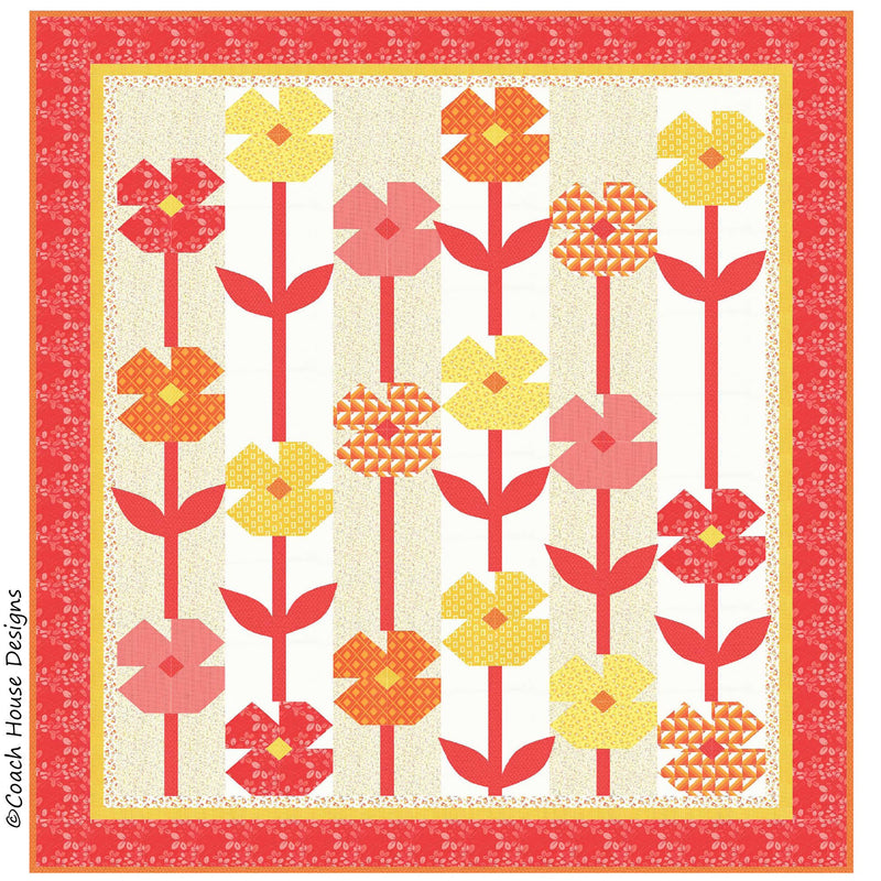 Jelly Bean Flowers Digital Pattern