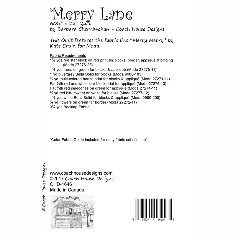 Merry Lane Digital Pattern