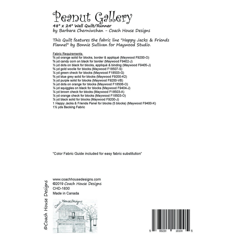 Peanut Gallery Digital Pattern