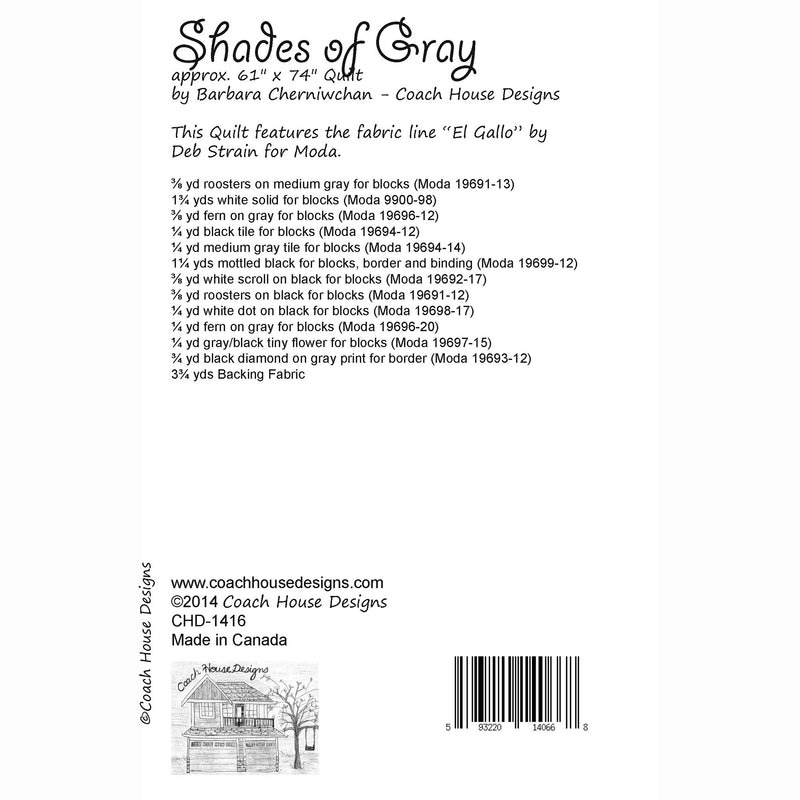 Shades of Gray Digital Pattern
