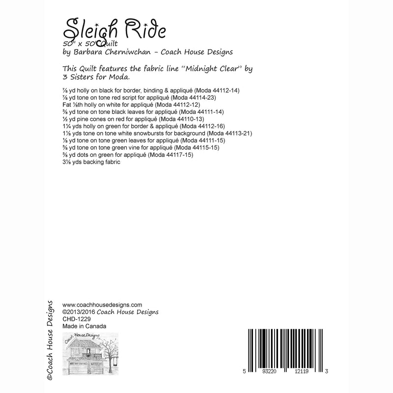 Sleigh Ride Digital Pattern