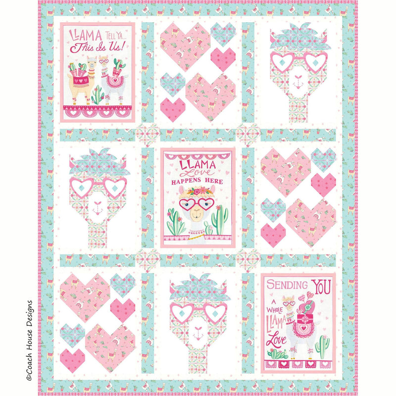 Some Llama Loves You Digital Pattern