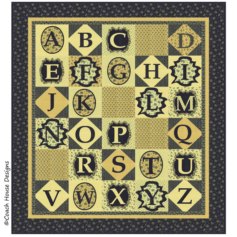 Vintage Alphabet Digital Pattern