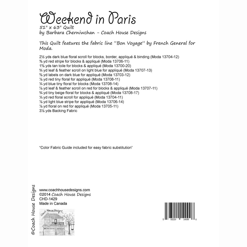 Weekend in Paris Digital Pattern