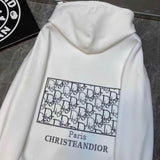 White Basic Long Sleeve Dior Hoodies